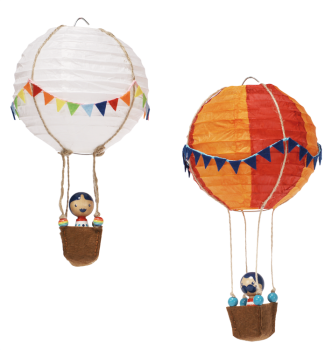 Papierlampion 11 cm, 6er Set