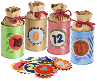 "DIY-Filz-Set ""Adventskalender"", 72tlg"